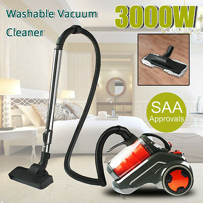 3000W Bagless Cyclone Cyclonic Vacuum Cleaner Filtration System Floor Brush Head