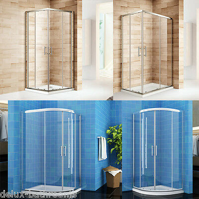 Quadrant Shower Cabin Enclosures with Tray Corner Entry Cubicle Glass Door Waste