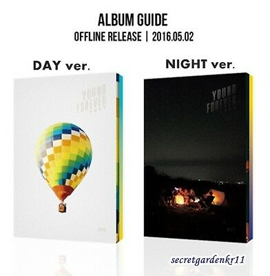 BTS YOUNG FOREVER [DAY+NIGHT Ver.] SET : CD+Photobook+Photocard+Poster+Gift  New