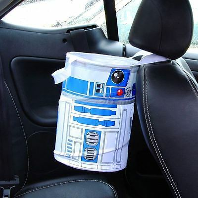 Star Wars R2-D2 Car Bin Travel Rubbish and Waste Basket Boot Storage Official