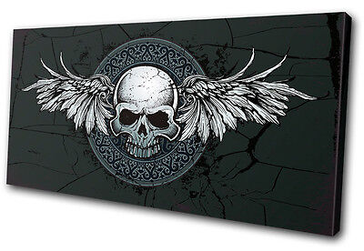 Canvas Art Picture Print Decorative Skull Gothic Rock Tattoo Illustration