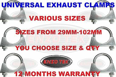 U BOLT CLAMP EXHAUST CLAMP SKY SATELLITE AERIAL CLAMP AUTO FIXING 28mm - 102mm