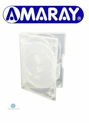 2 x 8 Way Clear Mini Megapack DVD 23mm [8 Discs] Empty Replacement Amaray Case