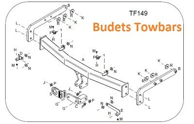 Flange Tow Bar Witter Towbar for Ford Galaxy 1995-2006