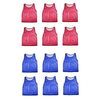 Nylon Mesh Scrimmage Team Practice Vests Pinnies Jerseys for Children Youth S...