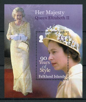 Falkland Islands 2016 MNH Queen Elizabeth II 90th Birthday Style 1v S/S Stamps