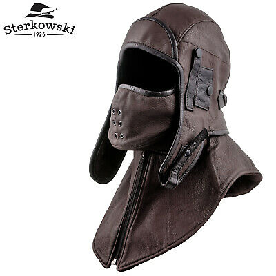 56fed66fc STERKOWSKI 'SIBERIA' AVIATOR Cap with Mask and Collar ; Bomber Hat ...
