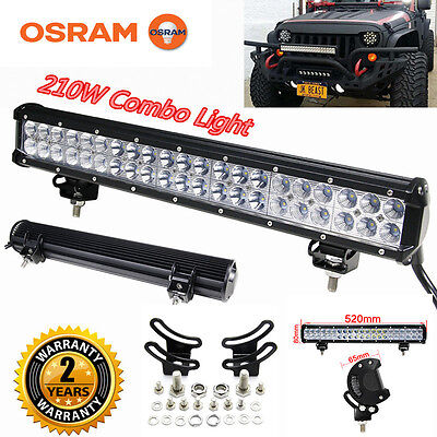 Xmas! 210W 20Inch Led Light Bar Combo Beam Work Light 4WD Off-Road Driving Lamp