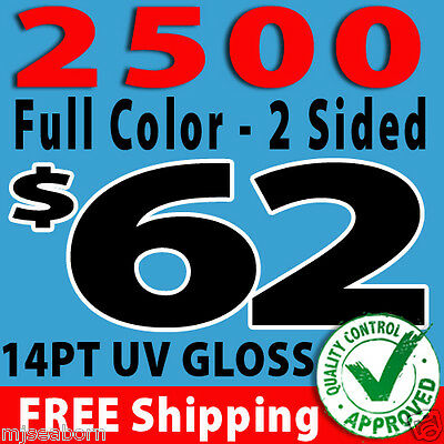 Custom 2500 business cards 7499 picclick 2500 custom full color business cards free design free shipping colourmoves