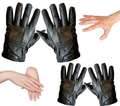 Mens Ladies Leather Gloves Thinsulate Soft Feel Fully Lined Winter Warm Outdoor
