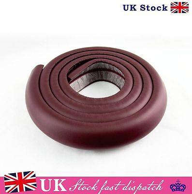 Baby Toddler Safety Protection Desk Table Edge Guard Corner Protector 2M Brown