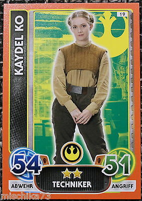 Topps Star Wars- Force Attax Extra Karte Nr.19 Kaydel Ko - Techniker