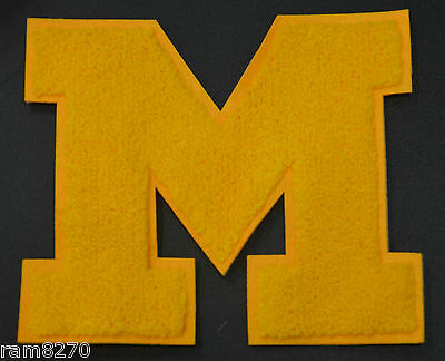 LETTER M LOGO  Sew On Patch 7inch 17cm Michigan Wolverines UMich UofM NCAA
