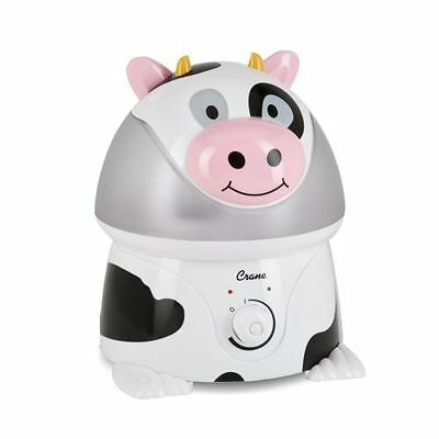 Crane Adorable Ultrasonic Cool Mist Humidifier w/ 2.1 Gallon Output per Day Cow