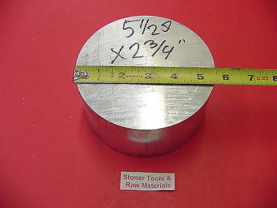 "5-1/2"" ALUMINUM 6061 ROUND ROD 2-3/4"" LONG T6511 Solid Lathe Bar Stock"