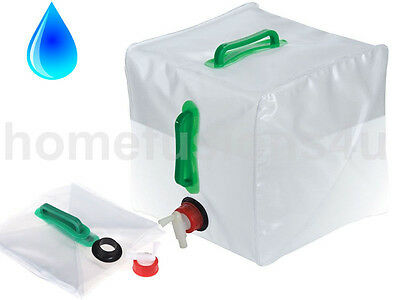 20L Collapsible Water Carrier Container Camping Bbq Picnic Outdoor Handle Tap
