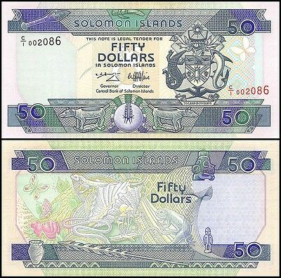 Solomon Islands 50 Dollars, 1996, P-22, UNC