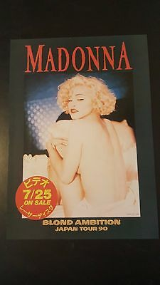 Madonna 1990 Blonde Ambition World Concert Tour Japan Ad Virgin Prayer Sex