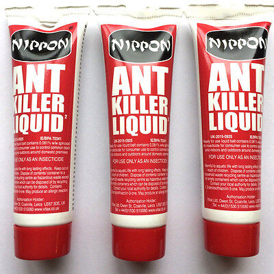3 x Nippon Ant Insect Killer Liquid Gel 25g Home & Garden Black Ant Control