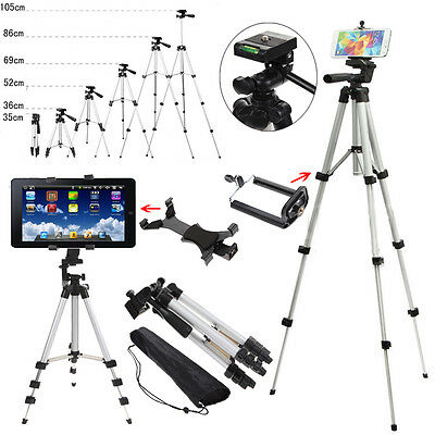 """25"""" 40"""" Pro Camera Tripod Stand Holder for Cell Phone iPhone Samsung Tablet PC"""