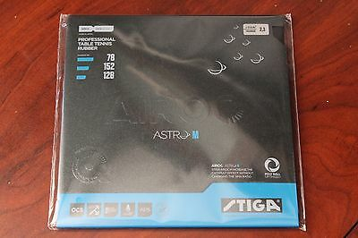 STIGA Airoc Astro M BLACK 2.3 Table Tennis Rubber Ping Pong - Shipped from USA