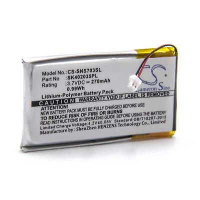 Batterie 270mAh pour Sony NW-S705, NW-S705F, SK402035PL