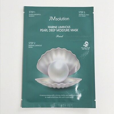JMsolution Marine Luminous Pearl Deep Moisture Mask 27ml with triple steps