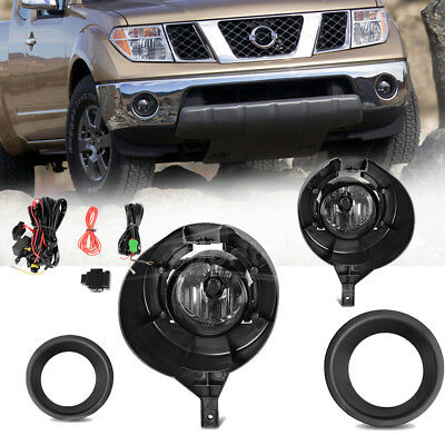 for 2005-2016 Nissan Frontier w/Metal Chrome Bumper Only Fog Lights Complete Kit