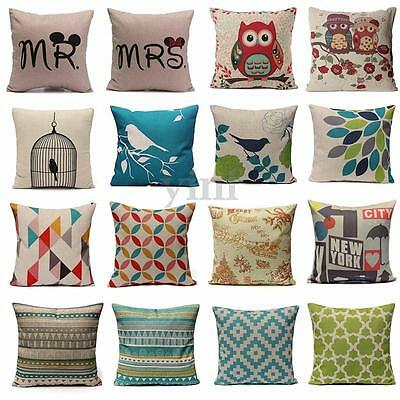Geometry Cotton Linen Home Decor Throw Pillow Case Cushion Covers