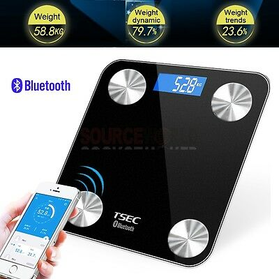 Bluetooth BMI Smart Scales Free iOS/Android App Weight Graphs LCD Backlit Screen