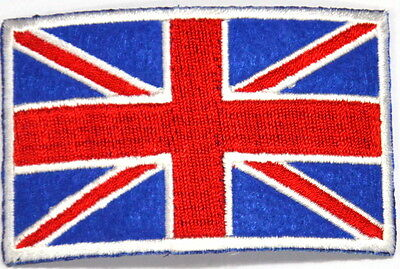 Union Jack Flag Gb Great Britain British Embroidered Sew Iron On Patch Badge Uk