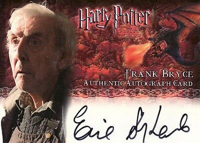 Harry Potter Goblet of Fire Eric Sykes as Frank Bryce Auto Card