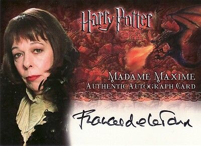 Harry Potter Goblet of Fire Frances De La Tour as Madame Maxime Auto Card