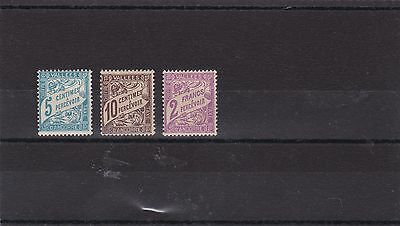 French Andorra 1937 - 41  S G Fd97 - Fd99 Postage Due To 2F   M / H  -  -