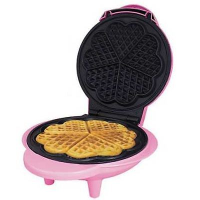 Mini Electric Waffle Maker Machine 5 Heart Shaped Non-Stick Easy Clean Plates