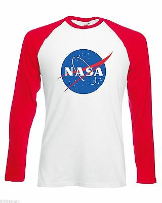 NASA Mens T Shirt Distressed Print logo Space Astronaut Retro Geek Nerd T-Shirt