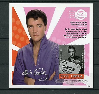 Liberia 2015 MNH Elvis Presley His Life in Stamps 1v S/S III Cancer Celebrities