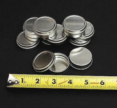 1/2 Oz Round Metal Tin Container for lip balm,crafts,storage,survival(100 Pack)