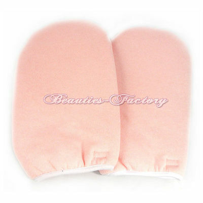 Paraffin Wax Protection  HAND MITTS/GLOVES Soak Off UV Gel Nail  391P