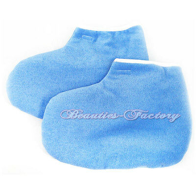 Blue Paraffin Wax Protection Leg Foot Gloves Pedicure NEW 394BU