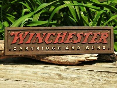 Winchester Repeating Arms Cartridge And Guns Wall Plaque - Cast Iron Metal Sign