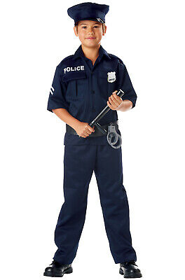 Brand New Police Officer Uniform Cop Outfit Child Halloween Costume