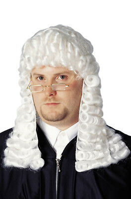 Brand New Supreme Court Official Judge Costume Wig - White
