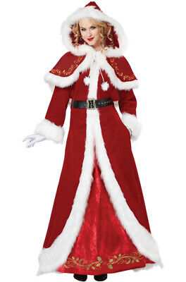 Brand New Deluxe Mrs. Santa Claus Christmas Adult Costume