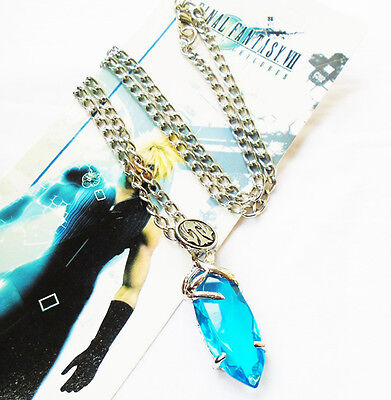 Hot FINAL FANTASY X-2 Cosplay X Blue Stone Necklace Pendant New