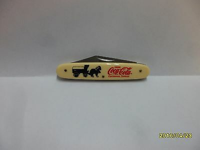 Coca Cola  Chattnooga Tennessee Horse & Wagon Novelty Knife By Frost New Item