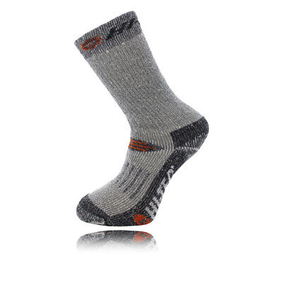 Hi-Tec Trek Heavyweight Mens Grey Black Outdoors Walking Socks Ankle 2 Pack