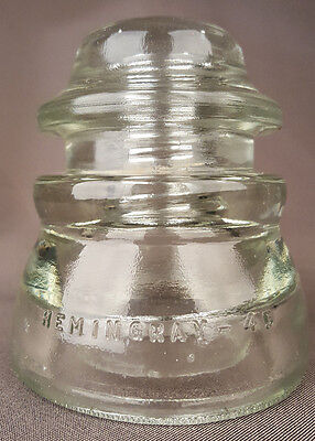 Clear Insulator-Hemingray 17, 33-50-Telegraph-Telephone-USA-Antique Vintage