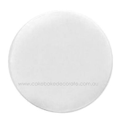 "Loyal White 20cm / 8"" Round Cake Board - cake decorating"