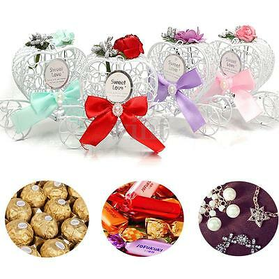 1/5 Pcs Love Carriage Candy Chocolate Boxes Birthday Wedding Party Favour Gift